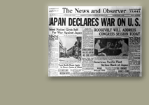 December 7, 1941 - Japan declares war on United States