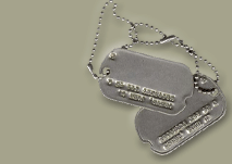 Dog tags of a U.S. Army soldier