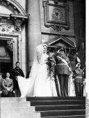 Goering's wedding in the Berlin cathedral in presence of Adolf Hitler.