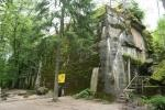 Hitler's Wolf's Lair bunker currently in ruins.