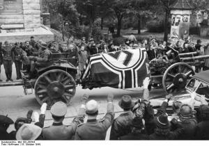 Erwin Rommel's oficial funeral ceremony.