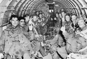 Toops of the 1st Airborne Army aboard of the C-47 with Arnhem as destination.