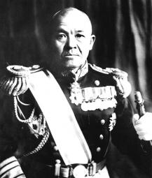 Vice Admiral Chuichi Nagumo when he was commander of the First Air Fleet.