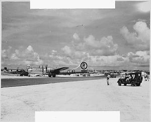 Enola Gay, B-29 after strike at Hiroshima