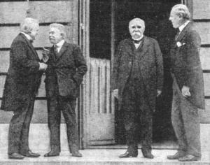 Lloyd George, Orlando, Clemenceau and Wilson.