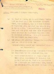 Letter (29,7x21cm) written by Adolf Hitler for the general von Choltitz (responsible for the Paris metropolitan area).