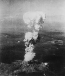 First atomic bomb dropped on Hiroshima.