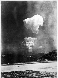 Rare photo of the Hiroshima bomb found in the archives of a Japanese Elementary School.