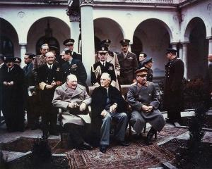 Churchill and Roosevelt at the Yalta Conference.