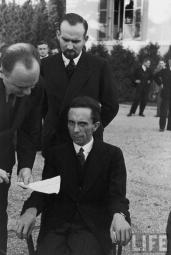 Goebbels with an expression full of hate while being photographed by a Jewish photographer (after learning that photographer was Jew).