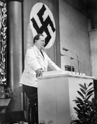Herman Wilhelm Goering speaking to the Reichstag.