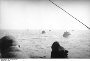 Refugees crossing the Baltic Sea during Operation Hannibal.