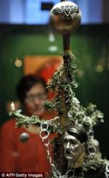 Christmas decorations which were hijacked by dictators have gone on display in a museum in Ulm, Germany.