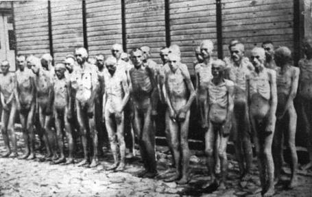 Prisoners of the Mauthausen concentration camp.