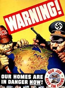 US propaganda poster against Japan and Germany.