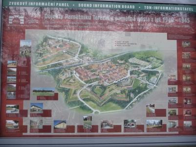 Theresienstadt concentration camp map.