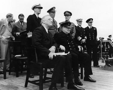 Roosevelt and Churchill while the Atlantic Charter Conference.