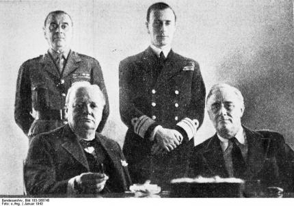 Casablanca Conference with the participation of Roosevelt and Churchill.