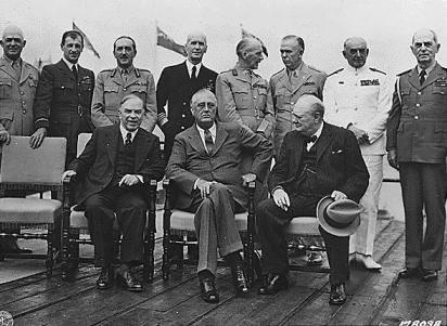 Mackenzie, Roosevelt and Churchill at the First Quebec Conference.