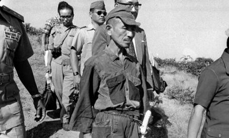 Lt. Hiroo Onoda in his surrender act in 1974 (!).