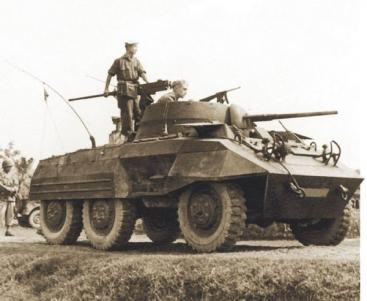 M8 Greyhound in action