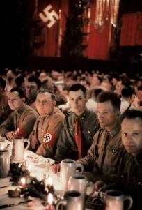 Scene from a Christmas party attended by Adolf Hitler and other Nazis.