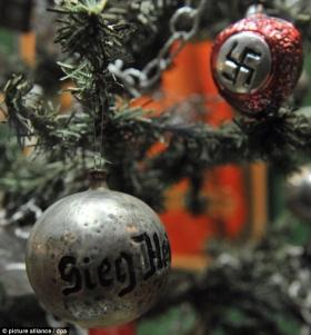 "The ""sieg heil"" and swastika baubles show how even the Christian tradition of Christmas was used to promote evil ideologies such as fascism."