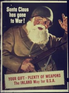 Santa Claus Has Gone To War poster.