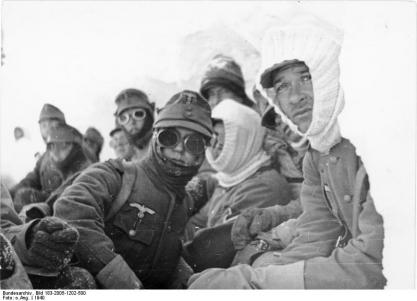 German mountain troops.